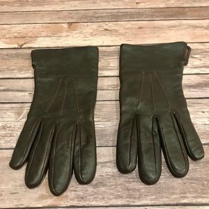 Women's Ralph Lauren Brown Leather Gloves Size XL